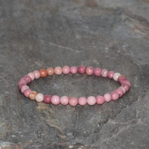 Shop Rhodonite Bracelets! Rhodonite Beaded Bracelet Handmade 4mm Pink Rhodonite Beaded Gemstone Bracelet Stacking Bracelet Unisex Bracelet Gift Bracelet Pink Jewelry | Natural genuine Rhodonite bracelets. Buy crystal jewelry, handmade handcrafted artisan jewelry for women.  Unique handmade gift ideas. #jewelry #beadedbracelets #beadedjewelry #gift #shopping #handmadejewelry #fashion #style #product #bracelets #affiliate #ad