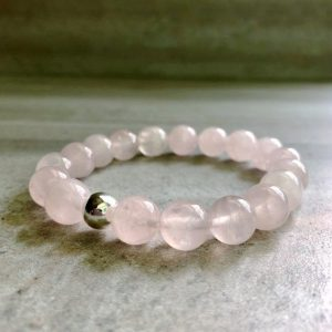 Shop Rose Quartz Bracelets! Pink Quartz Bracelet | Healing Rose Quartz Mala Bead Bracelet For Women, Men | 5 6 7 8 9 Inch Size For Small Or Large Wrists | Natural genuine Rose Quartz bracelets. Buy crystal jewelry, handmade handcrafted artisan jewelry for women.  Unique handmade gift ideas. #jewelry #beadedbracelets #beadedjewelry #gift #shopping #handmadejewelry #fashion #style #product #bracelets #affiliate #ad