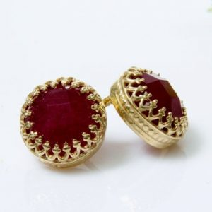 Shop Ruby Earrings! Ruby Earrings, july Birthstone Earrings, gold Earrings, post Earrings, stud Earrings, gold Studs | Natural genuine Ruby earrings. Buy crystal jewelry, handmade handcrafted artisan jewelry for women.  Unique handmade gift ideas. #jewelry #beadedearrings #beadedjewelry #gift #shopping #handmadejewelry #fashion #style #product #earrings #affiliate #ad