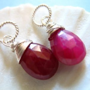 Shop Ruby Beads! Ruby Charm Pendant Drop Add A Dangles Briolette / 16-18 Mm,  July Birthstone Brides Bridal Ruby Jewelry Gift For Her, Bridesmaids Gift Gd18 | Natural genuine beads Ruby beads for beading and jewelry making.  #jewelry #beads #beadedjewelry #diyjewelry #jewelrymaking #beadstore #beading #affiliate #ad