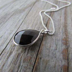 Shop Smoky Quartz Pendants! Smoky Quartz Necklace, petite faceted quartz tear drop pendant, silver bezel | Natural genuine Smoky Quartz pendants. Buy crystal jewelry, handmade handcrafted artisan jewelry for women.  Unique handmade gift ideas. #jewelry #beadedpendants #beadedjewelry #gift #shopping #handmadejewelry #fashion #style #product #pendants #affiliate #ad