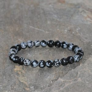 Shop Snowflake Obsidian Bracelets! Snowflake Obsidian Bracelet Handmade 6mm Natural Snowflake Obsidian Beaded Gemstone Bracelet Gift Bracelet Stacking Bracelet Unisex Bracelet | Natural genuine Snowflake Obsidian bracelets. Buy crystal jewelry, handmade handcrafted artisan jewelry for women.  Unique handmade gift ideas. #jewelry #beadedbracelets #beadedjewelry #gift #shopping #handmadejewelry #fashion #style #product #bracelets #affiliate #ad