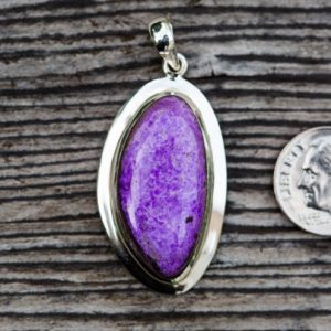 Shop Sugilite Pendants! Sugilite pendant – Stunning Sugilite & Sterling Silver – Sugilite Jewelry – Sugilite Pendant – Sugilite necklace – Sugilite Necklace | Natural genuine Sugilite pendants. Buy crystal jewelry, handmade handcrafted artisan jewelry for women.  Unique handmade gift ideas. #jewelry #beadedpendants #beadedjewelry #gift #shopping #handmadejewelry #fashion #style #product #pendants #affiliate #ad
