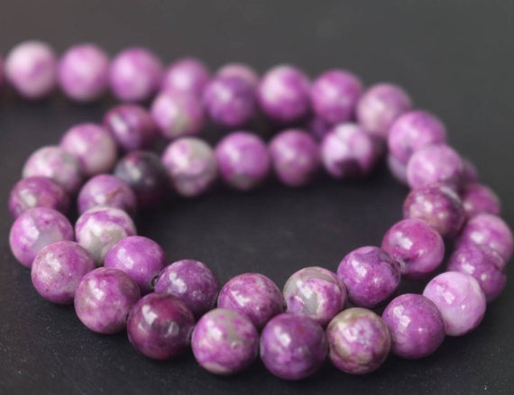 14mm Sugilite Beads, Dyed Sugilite Beads, Smooth And Round Sugilite Beads, 15 Inches One Starand