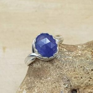 Shop Tanzanite Rings! Tanzanite ring. 925 sterling silver. Reiki jewelry uk. Violet Flame adjustable ring. December Birthstone. 10x8mm stone | Natural genuine Tanzanite rings, simple unique handcrafted gemstone rings. #rings #jewelry #shopping #gift #handmade #fashion #style #affiliate #ad