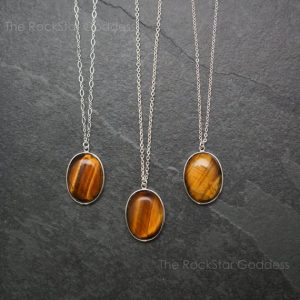 Silver Tiger Eye Necklace / Tiger Eye Pendant / Tiger Eye Jewelry / Stone of Protection / Tiger Eye / Sterling Silver Chain | Natural genuine Tiger Eye pendants. Buy crystal jewelry, handmade handcrafted artisan jewelry for women.  Unique handmade gift ideas. #jewelry #beadedpendants #beadedjewelry #gift #shopping #handmadejewelry #fashion #style #product #pendants #affiliate #ad