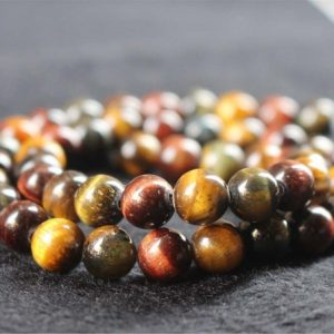 Shop Tiger Eye Round Beads! Natural Mixcolor Tigereye Smooth and Round Beads,6mm/8mm/10mm/12mm Tigereye Beads Bulk Supply,15 inches one starand | Natural genuine round Tiger Eye beads for beading and jewelry making.  #jewelry #beads #beadedjewelry #diyjewelry #jewelrymaking #beadstore #beading #affiliate #ad