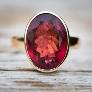 Shop Tourmaline Rings! Rubellite Tourmaline 14k Gold Size 7.5 Engagement Ring Pink Tourmaline – Tourmaline Ring Size 7.5 – Pink Tourmaline 14k Gold Deep Pink Ring | Natural genuine Tourmaline rings, simple unique alternative gemstone engagement rings. #rings #jewelry #bridal #wedding #jewelryaccessories #engagementrings #weddingideas #affiliate #ad