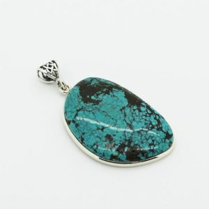 Shop Turquoise Pendants! Big Beautiful freeform turquoise stone pendant set on 925 sterling silver | Natural genuine Turquoise pendants. Buy crystal jewelry, handmade handcrafted artisan jewelry for women.  Unique handmade gift ideas. #jewelry #beadedpendants #beadedjewelry #gift #shopping #handmadejewelry #fashion #style #product #pendants #affiliate #ad