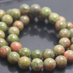 6mm / 8mm / 10mm / 12mm Unakite Beads, smooth And Round Stone Beads, 15 Inches One Starand | Natural genuine beads Unakite beads for beading and jewelry making.  #jewelry #beads #beadedjewelry #diyjewelry #jewelrymaking #beadstore #beading #affiliate #ad