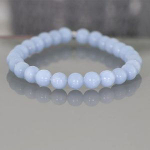 Shop Angelite Bracelets! Angelite Bracelet, Angelite Stone, Angelite Beads Bracelet,  Angelite Crystal Beads, Chakra Bracelet, Angelite Jewelry, Calming Bracelet | Natural genuine Angelite bracelets. Buy crystal jewelry, handmade handcrafted artisan jewelry for women.  Unique handmade gift ideas. #jewelry #beadedbracelets #beadedjewelry #gift #shopping #handmadejewelry #fashion #style #product #bracelets #affiliate #ad
