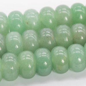 "Shop Aventurine Rondelle Beads! 10x6mm Parsley Bunch Aventurine Beads Grade Aaa Genuine Natural Gemstone Rondelle Loose Beads 15"" / 7.5"" Bulk Lot Options (110563) 