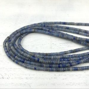 "Shop Aventurine Rondelle Beads! Blue Aventurine Heishi Beads Rondelle Tyre Spacer Beads 4x2mm Natural Aventurine Gemstone Rondelles Beading Supplies 15.5""/Full Strand 