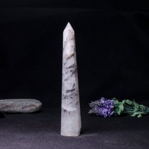 Shop Black Tourmaline Points & Wands! Rare Natural Extra Large Black Rutilated Quartz Tower/Black Tourmaline Point/Rutilated Crystal Collection/Crystal Gift-40*51*260mm 713g#1795 | Natural genuine stones & crystals in various shapes & sizes. Buy raw cut, tumbled, or polished gemstones for making jewelry or crystal healing energy vibration raising reiki stones. #crystals #gemstones #crystalhealing #crystalsandgemstones #energyhealing #affiliate #ad
