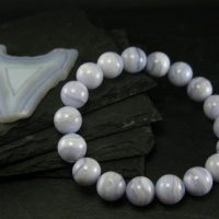 Blue Lace Agate Genuine Bracelet ~ 7.5 Inches ~ 12mm Round Beads | Natural genuine Gemstone jewelry. Buy crystal jewelry, handmade handcrafted artisan jewelry for women.  Unique handmade gift ideas. #jewelry #beadedjewelry #beadedjewelry #gift #shopping #handmadejewelry #fashion #style #product #jewelry #affiliate #ad