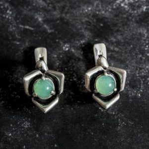 Shop Chrysoprase Earrings! Chrysoprase Earrings, Natural Chrysoprase, Rose Earrings, Flower Earrings, Vintage Earrings, Silver Earrings, Chrysoprase, Solid Silver   Natural genuine Chrysoprase earrings. Buy crystal jewelry, handmade handcrafted artisan jewelry for women.  Unique handmade gift ideas. #jewelry #beadedearrings #beadedjewelry #gift #shopping #handmadejewelry #fashion #style #product #earrings #affiliate #ad