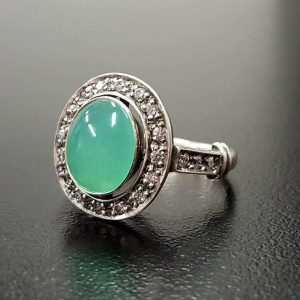 Chrysoprase Ring, Natural Chrysoprase, Vintage Ring, Vintage Rings, May Birthstone Ring, Birthstone Ring, Australian Chrysoprase, Silver | Natural genuine Chrysoprase rings, simple unique handcrafted gemstone rings. #rings #jewelry #shopping #gift #handmade #fashion #style #affiliate #ad