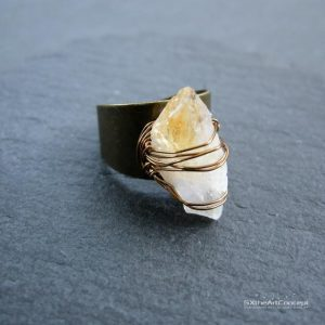 Shop Citrine Rings! Citrine raw ring, antique bronze adjustable ring, bohemian jewelry, minimal crystal stone ring, yellow rough gemstone ring, women jewelry | Natural genuine Citrine rings, simple unique handcrafted gemstone rings. #rings #jewelry #shopping #gift #handmade #fashion #style #affiliate #ad