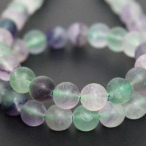 Shop Fluorite Round Beads! Matte Genuine Fluorite Smooth And Round Beads, 6mm / 8mm / 10mm / 12mm Wholesale Fluorite Beads Supply, 15 Inches One Starand | Natural genuine round Fluorite beads for beading and jewelry making.  #jewelry #beads #beadedjewelry #diyjewelry #jewelrymaking #beadstore #beading #affiliate #ad