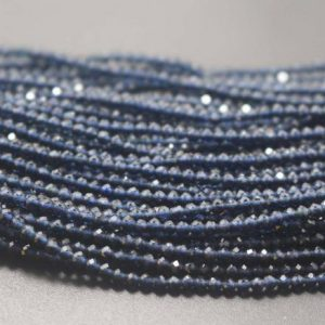 Shop Iolite Beads! Faceted Iolite Beads, iolite Faceted Beads Bulk Supply, small Size Beads, 15 Inches One Starand | Natural genuine beads Iolite beads for beading and jewelry making.  #jewelry #beads #beadedjewelry #diyjewelry #jewelrymaking #beadstore #beading #affiliate #ad