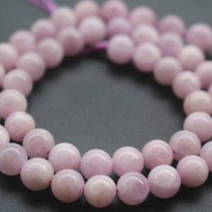 Shop Kunzite Beads! 12mm AA Kunzite Beads,Natural Smooth and Round Spodumene Beads,15 inches one starand | Natural genuine round Kunzite beads for beading and jewelry making.  #jewelry #beads #beadedjewelry #diyjewelry #jewelrymaking #beadstore #beading #affiliate #ad