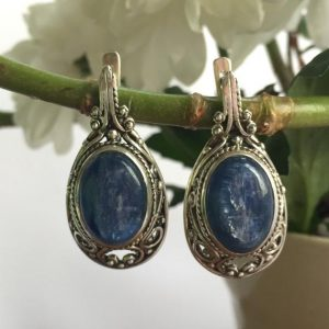 Shop Kyanite Earrings! Statement Earrings, Natural Kyanite, Antique Earrings, Kyanite Earrings, Vintage Earrings, Long Blue Earrings, 925 Silver Earrings, Kyanite | Natural genuine Kyanite earrings. Buy crystal jewelry, handmade handcrafted artisan jewelry for women.  Unique handmade gift ideas. #jewelry #beadedearrings #beadedjewelry #gift #shopping #handmadejewelry #fashion #style #product #earrings #affiliate #ad