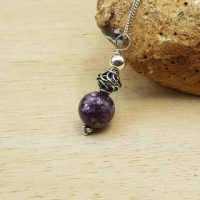 Purple Lepidolite Pendant. Bali Silver Beads. Reiki Jewelry Uk. Libra Jewelry. Minimalist Cone Necklace | Natural genuine Gemstone jewelry. Buy crystal jewelry, handmade handcrafted artisan jewelry for women.  Unique handmade gift ideas. #jewelry #beadedjewelry #beadedjewelry #gift #shopping #handmadejewelry #fashion #style #product #jewelry #affiliate #ad