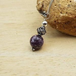 Shop Lepidolite Pendants! Purple Lepidolite Pendant. Bali Silver Beads. Reiki Jewelry Uk. Libra Jewelry. Minimalist Cone Necklace | Natural genuine Lepidolite pendants. Buy crystal jewelry, handmade handcrafted artisan jewelry for women.  Unique handmade gift ideas. #jewelry #beadedpendants #beadedjewelry #gift #shopping #handmadejewelry #fashion #style #product #pendants #affiliate #ad