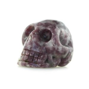 Shop Lepidolite Shapes! Lepidolite with mica crystal skull, lepidolite mica carved polished 1.95'' skull, high grade | Natural genuine stones & crystals in various shapes & sizes. Buy raw cut, tumbled, or polished gemstones for making jewelry or crystal healing energy vibration raising reiki stones. #crystals #gemstones #crystalhealing #crystalsandgemstones #energyhealing #affiliate #ad