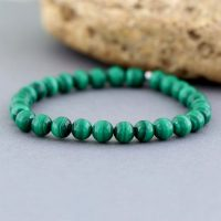 Malachite Bracelet, stretch Bracelet Green Gemstone Beads, beads Bracelet For Her, malachite Jewelry | Natural genuine Gemstone jewelry. Buy crystal jewelry, handmade handcrafted artisan jewelry for women.  Unique handmade gift ideas. #jewelry #beadedjewelry #beadedjewelry #gift #shopping #handmadejewelry #fashion #style #product #jewelry #affiliate #ad
