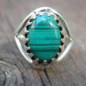 Shop Malachite Rings! Natural Green Malachite Sterling silver Ring Size 8 – Ring size 8 – Natural Stone Ring – Malachite ring size 8 – Green Malachite ring | Natural genuine Malachite rings, simple unique handcrafted gemstone rings. #rings #jewelry #shopping #gift #handmade #fashion #style #affiliate #ad