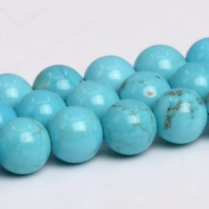 Shop Turquoise Round Beads! Mint Blue Turquoise Beads Grade Aaa Round Loose Beads 4mm 6mm 8mm 10mm 12mm Bulk Lot Options | Natural genuine round Turquoise beads for beading and jewelry making.  #jewelry #beads #beadedjewelry #diyjewelry #jewelrymaking #beadstore #beading #affiliate #ad