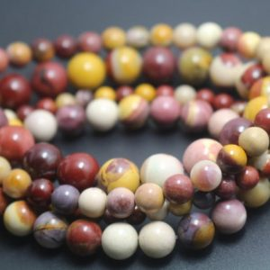 Mookaite Beads, 6mm / 8mm / 10mm / 12mm Smooth And Round Stone Beads, 15 Inches One Starand | Natural genuine round Mookaite beads for beading and jewelry making.  #jewelry #beads #beadedjewelry #diyjewelry #jewelrymaking #beadstore #beading #affiliate #ad
