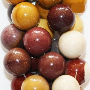 """Shop Mookaite Beads! Genuine Mookaite Round Beads 10 Mm – Full Strand 15 1 / 2"""", 38 Beads, A-quality 