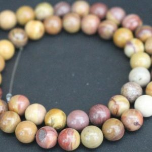 Sunset Mookaite Beads,4mm/6mm/8mm/10mm/12mm Smooth and Round Stone Beads,15 inches one starand | Natural genuine round Mookaite beads for beading and jewelry making.  #jewelry #beads #beadedjewelry #diyjewelry #jewelrymaking #beadstore #beading #affiliate #ad
