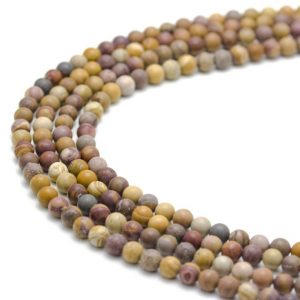 """Shop Mookaite Beads! Sunset Mookaite Matte Round Size 6mm 8mm 10mm 15.5"""" Strand 