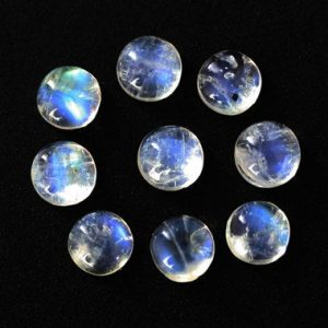 Shop Moonstone Cabochons! Natural Rainbow Moonstone Blue Fire Cabochon, Available Size 3 MM to 15 MM, Round Shape Blue Flashy White Moonstone, Calibrated Flat Back, | Natural genuine stones & crystals in various shapes & sizes. Buy raw cut, tumbled, or polished gemstones for making jewelry or crystal healing energy vibration raising reiki stones. #crystals #gemstones #crystalhealing #crystalsandgemstones #energyhealing #affiliate #ad