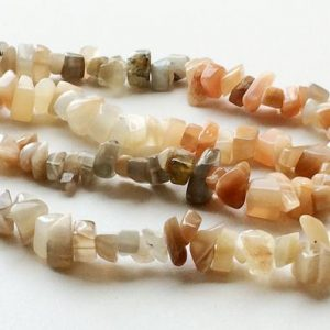 Shop Moonstone Chip & Nugget Beads! 5-8mm Multi Moonstone Chips, Multi Moonstone Beads, 32 Inch Multi Moonstone Strand, Multi Moonstone Gemstone (1Strand To 5Strand Options) | Natural genuine chip Moonstone beads for beading and jewelry making.  #jewelry #beads #beadedjewelry #diyjewelry #jewelrymaking #beadstore #beading #affiliate #ad