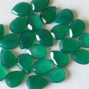 Shop Onyx Stones & Crystals! Wholesale 10 Pcs Green Onyx Cabochons, Faceted Drops Cabochons, Rose Cut Green Onyx, Green Onyx Flat Back Cabs 10x14mm | Natural genuine stones & crystals in various shapes & sizes. Buy raw cut, tumbled, or polished gemstones for making jewelry or crystal healing energy vibration raising reiki stones. #crystals #gemstones #crystalhealing #crystalsandgemstones #energyhealing #affiliate #ad