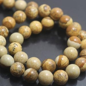 Shop Picture Jasper Round Beads! Picture Jasper Beads, 6mm / 8mm / 10mm / 12mm Smooth And Round Jasper Beads, 15 Inches One Starand | Natural genuine round Picture Jasper beads for beading and jewelry making.  #jewelry #beads #beadedjewelry #diyjewelry #jewelrymaking #beadstore #beading #affiliate #ad