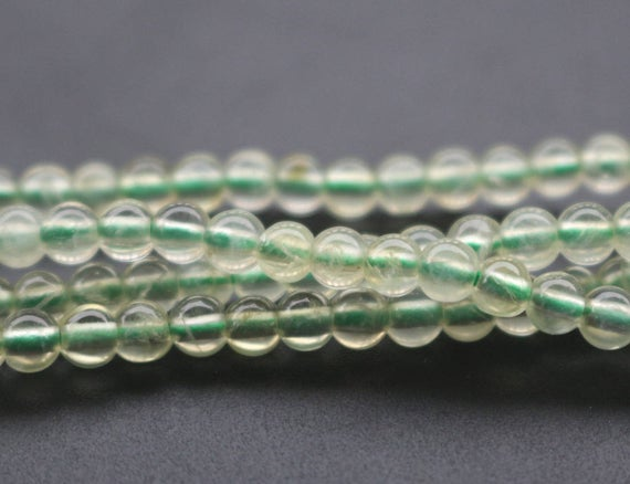 4mm Aa Natural Prehnite Beads,smooth And Round Stone Beads,15 Inches One Starand