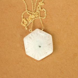 Shop Quartz Crystal Necklaces! Solar Quartz Necklace – Stalactite – Crystal Necklace – A Hexagon Solar Quartz Wire Wrapped Onto A 14k Gold Vermeil Chain – Sale | Natural genuine Quartz necklaces. Buy crystal jewelry, handmade handcrafted artisan jewelry for women.  Unique handmade gift ideas. #jewelry #beadednecklaces #beadedjewelry #gift #shopping #handmadejewelry #fashion #style #product #necklaces #affiliate #ad