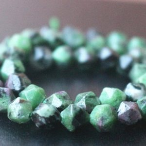Ruby Zoisite Faceted Nugget Beads,6mm/8mm/10mm/12mm Faceted Ruby Zoisite Nugget Beads,15 inches one starand | Natural genuine chip Ruby Zoisite beads for beading and jewelry making.  #jewelry #beads #beadedjewelry #diyjewelry #jewelrymaking #beadstore #beading #affiliate #ad