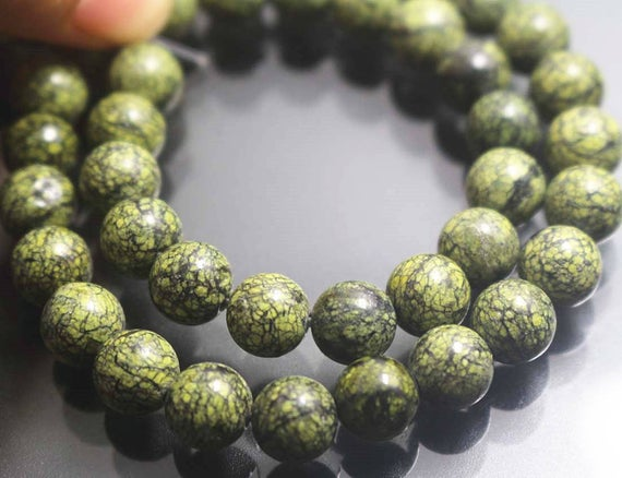 8mm Russian Serpentine Beads, Smooth And Round Stone Beads,15 Inches One Starand