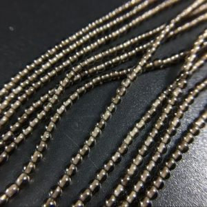 Shop Smoky Quartz Round Beads! 2 / 3mm Tiny Smoky Quartz Beads Natural Smooth Round Smoky Quartz Crystal Beads Gemstone Semiprecious Beads Jewelry Making Full Strand 15.5"