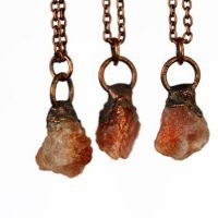 Sunstone Necklace – Electroformed Raw Stone Pendant – Layering Necklace | Natural genuine Gemstone jewelry. Buy crystal jewelry, handmade handcrafted artisan jewelry for women.  Unique handmade gift ideas. #jewelry #beadedjewelry #beadedjewelry #gift #shopping #handmadejewelry #fashion #style #product #jewelry #affiliate #ad