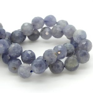 Shop Tanzanite Faceted Beads! Natural Tanzanite, Tanzanite Faceted Sphere Ball Round Natural Gemstone Beads Stones – 6mm 8mm | Natural genuine faceted Tanzanite beads for beading and jewelry making.  #jewelry #beads #beadedjewelry #diyjewelry #jewelrymaking #beadstore #beading #affiliate #ad