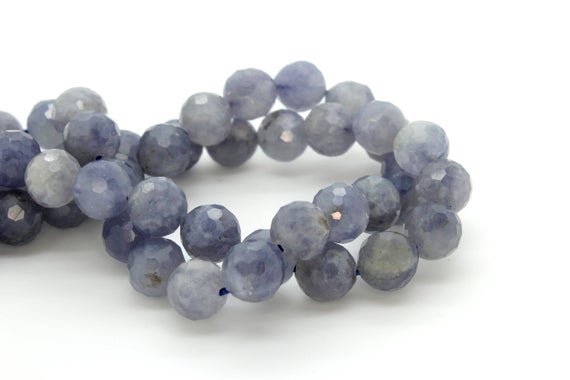 Natural Tanzanite, Tanzanite Faceted Sphere Ball Round Natural Gemstone Beads Stones - 6mm 8mm
