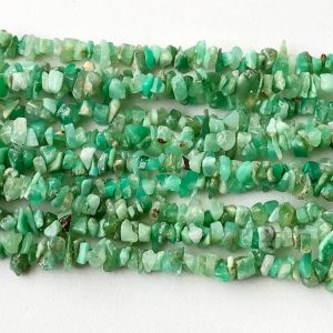 Shop Chrysoprase Chip & Nugget Beads! 5-8mm Chrysoprase Chips For Jewelry, Natural Chrysoprase Beads, 32 Inches Green Chrysoprase For Necklace  (1Strand To 5Strands Options) | Natural genuine chip Chrysoprase beads for beading and jewelry making.  #jewelry #beads #beadedjewelry #diyjewelry #jewelrymaking #beadstore #beading #affiliate #ad