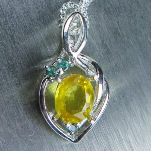 Shop Yellow Sapphire Necklaces! 0.85ct Natural Yellow Sapphire & Alexandrites 925 Sterling Silver, 9ct 14k 18k White Yellow Rose Gold  Pendant Necklace With Chain | Natural genuine Yellow Sapphire necklaces. Buy crystal jewelry, handmade handcrafted artisan jewelry for women.  Unique handmade gift ideas. #jewelry #beadednecklaces #beadedjewelry #gift #shopping #handmadejewelry #fashion #style #product #necklaces #affiliate #ad